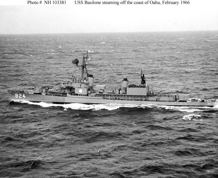 Underway off Hawaii.  Feb, '66