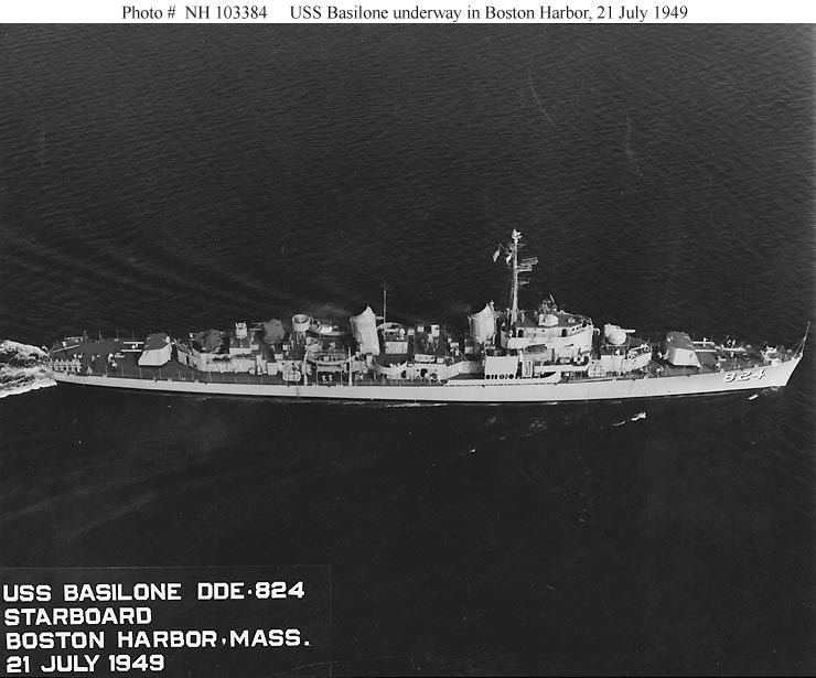Underway in Boston harbor July, '49