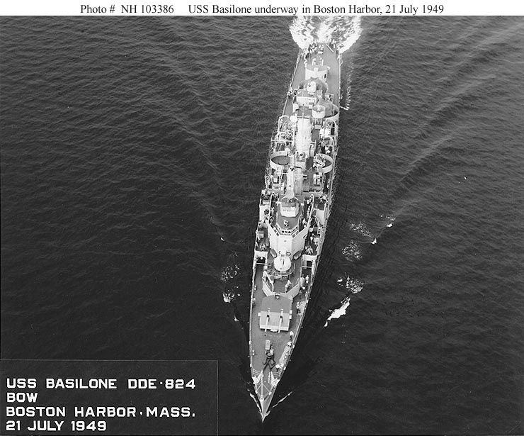 Underway Boston harbor, July, '49