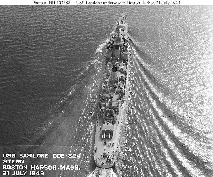 Underway Boston harbor, July '49