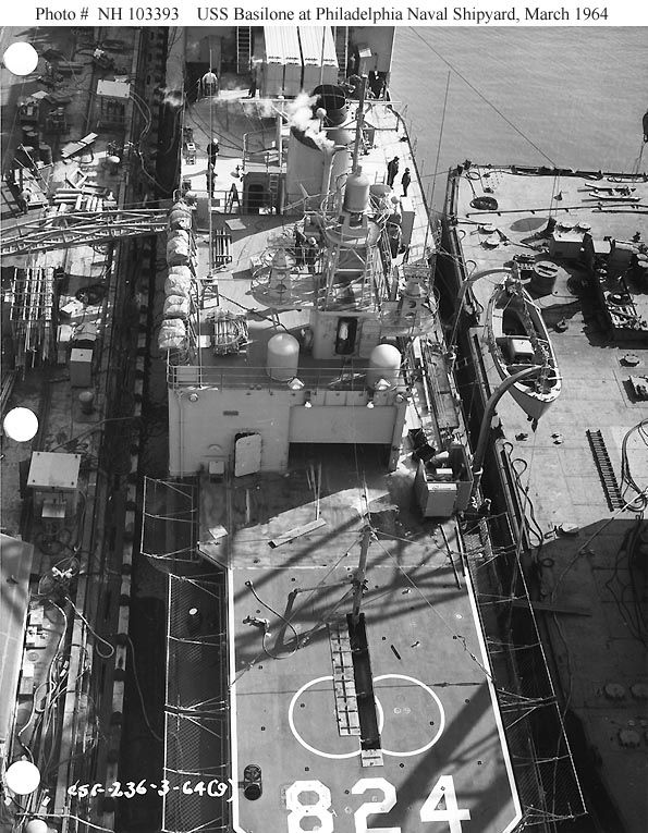 View of the flight deck, and aft superstructure.  PNS, Mar. '64