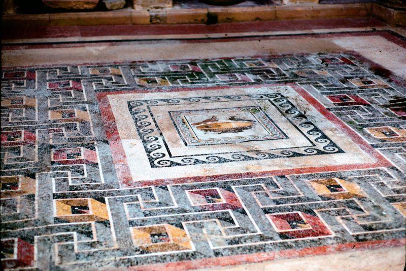 Roman floor preserved in museum in Rabat Malta