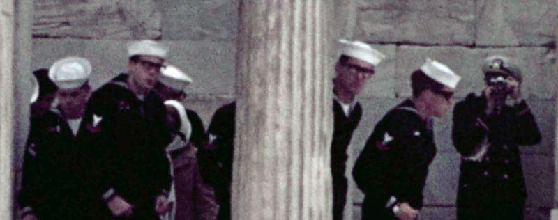 Touring the Acropolis 1969 closeup