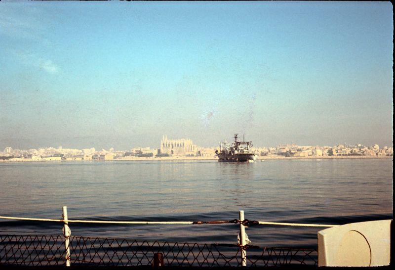 USS Nitro during Sea Detail, Palma Mall