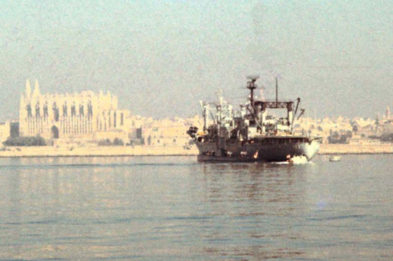 USS Nitro in Palma closeup