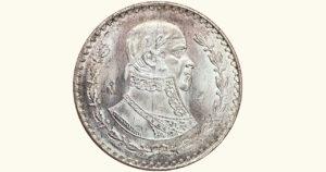 MÉXICO 1 Peso (Morelos), 1963, XF/AU