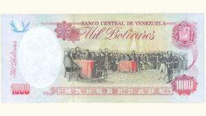 VENEZUELA 1000 Bolívares, Agosto-06-1998 Serie Z8 Reposición UNC