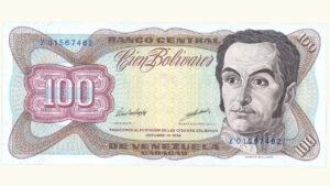 VENEZUELA 100 Bolívares, Oct-13-1998, Serie Z8 Reposición AU+/UNC