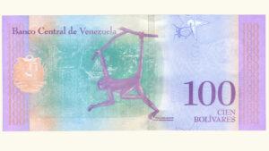 Venezuela 100 Bolívares Soberanos, Enero-15-2018, Serie Z8 Reposición UNC