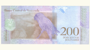 Venezuela 200 Bolívares Soberanos, Enero-15-2018, Serie Z8 Reposición UNC