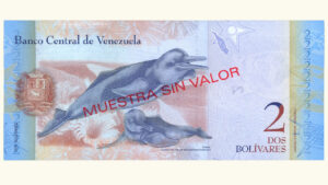 Venezuela 2 Bolívares Fuertes, Octubre-29-2013, Serie S8 Muestra Sin Valor UNC