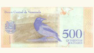 Venezuela 500 Bolívares Soberanos, Mayo-18-2018, Serie Z8 Reposición (Segundo Intervalo, Cinta de Seguridad Opaca) UNC