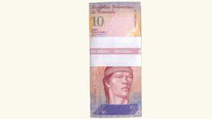 Venezuela 10 Bolívares Fuertes, Sep-03-2009, Serie K8 Fajo UNC