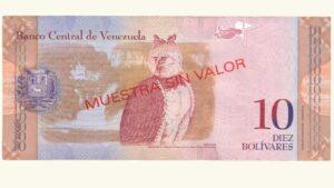 Venezuela 10 Bolívares Fuertes, Mar-20-2007, Serie A8 Muestra Sin Valor UNC
