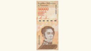 Venezuela 50000 Bolívares Soberanos, Enero-22-2019, Serie X8 (Reposición), UNC