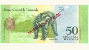 VENEZUELA 50 Bolívares Fuertes, Dic-27-2012, Serie S8 Muestra Sin Valor UNC