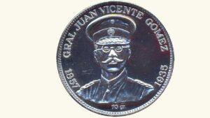 """VENEZUELA Medalla """"Gral. Juan Vicente Gómez"""", 1857-1935, XF"""