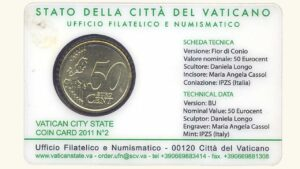 """Vatican City, 50 Eurocent """"Coin Card Nro.2"""", 2011, UNC"""