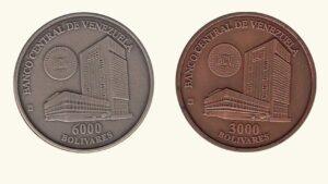 """VENEZUELA 3000-6000 Bolívares """"Fundación de la Casa de Moneda de Venezuela"""", 1999, UNC."""