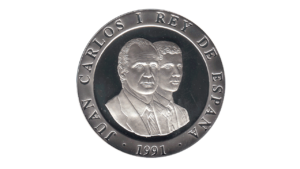 "España 2000 Pesetas ""Olimpiadas de Barcelona 1992 – Bolo"", 1992, AU+/UNC"