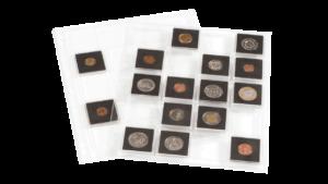 Hojas Lighthouse Encap Para Monedas De Capsulas Quadrum 2×2, 20 Espacios – ( 2 unidades)