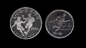 "E.E.U.U 1/2 – 1 Dolar ""World Cup Usa"", 1994 (ESTUCHE)"
