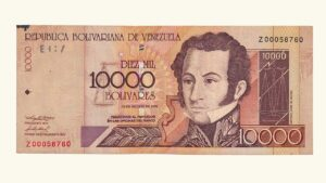 VENEZUELA 10000 Bolívares, Agosto-13-2002, Serie Z8, Reposición VF