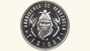 """VENEZUELA Medalla Serie Aborígenes De Venezuela """"India Tibisay"""" AU"""