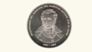 """VENEZUELA Medalla """"Bicentenario del Natalicio del Mariscal Antonio José Sucre, 1795-1995"""", AU"""
