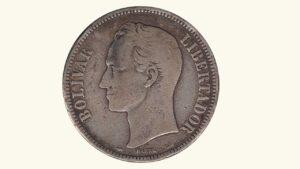 Venezuela 5 Bolívares, 1905, F.
