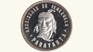 """VENEZUELA Medalla Serie Aborígenes De Venezuela """"Cacique Parayauta"""" 1959 AU"""