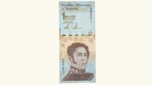 Venezuela 1000000 Bolívares Soberanos, Septiembre-03-2020, Serie X8 (Reposición), UNC