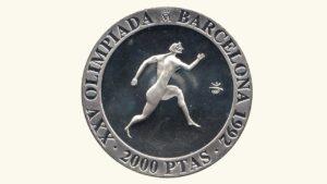 """España 2000 Pesetas """"Olimpiadas de Barcelona 1992 – Atleta Griego"""", 1992, AU"""