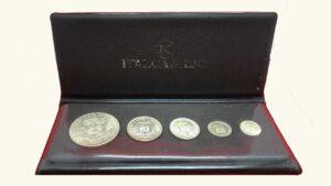 VENEZUELA Set de 5 Monedas En Estuche Protocolar Italcambio