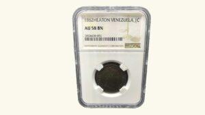 VENEZUELA 1 Centavo, 1862, NGC AU58 BN (MONAGUERO)