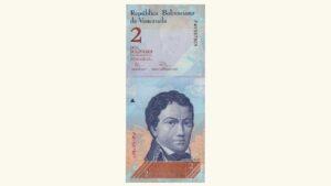 Venezuela 2 Bolívares Fuertes, Dic-27-2012, Serie P8 UNC (FAJO)
