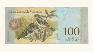 "Venezuela 100000 Bolívares Fuertes, Septiembre-7-2017, Serie A8 AU+/ UNC ""MUESTRA SIN VALOR"""