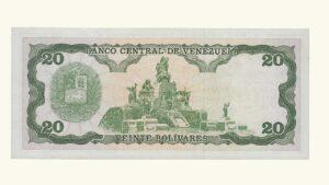 VENEZUELA 20 Bolívares, Septiembre-25-1984, Serie R8, UNC.
