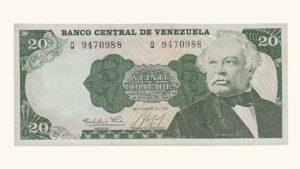 VENEZUELA 10 Bolívares, Septiembre-25-1984, Serie Q7, AU
