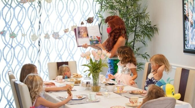 At-Home Tea Party Featuring Princess Ariel from Fairytale Productions