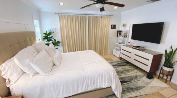 Boca Guest Room Makeover Featuring Custom Curtains by Excell in Design Group