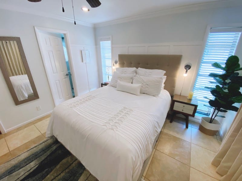 Guest room makeover with custom curtains in Boca Raton