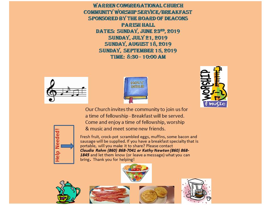 Community Worship & Breakfast