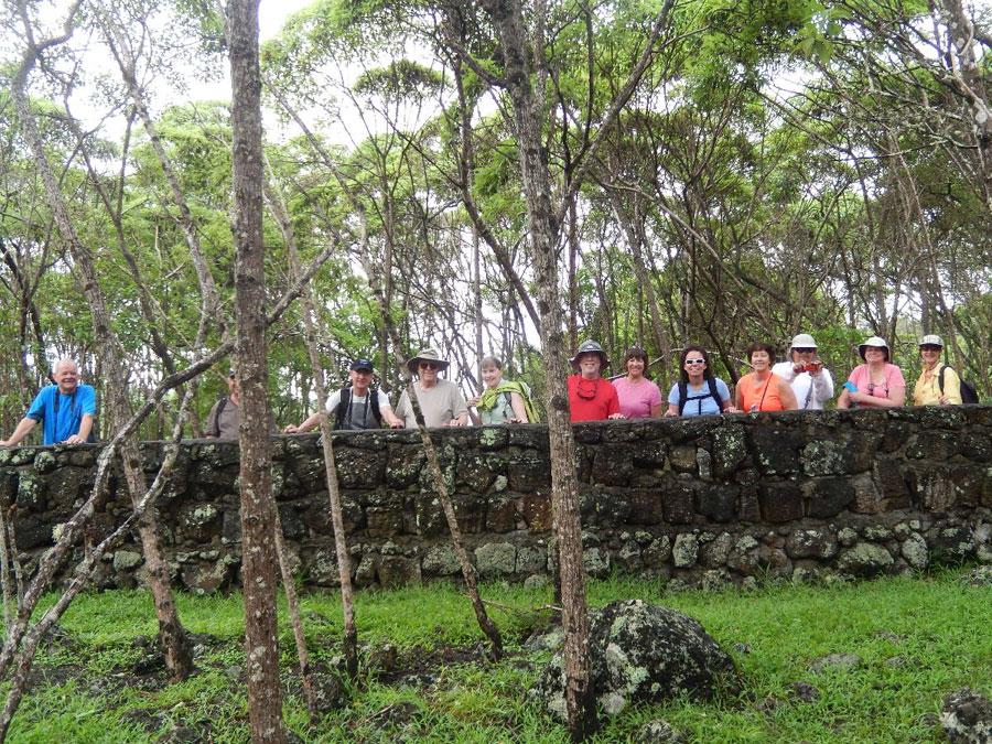 Group hike, Galapagos, 2014
