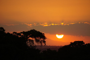 Classic African sunset