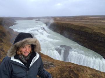 Nancy Dorrans looking cold!