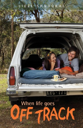 book cover of the novel OFF TRACK for the website Bush Telegraph XPress