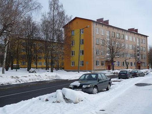 Photo of Krushchev-era apartment buidlings in Estonia,
