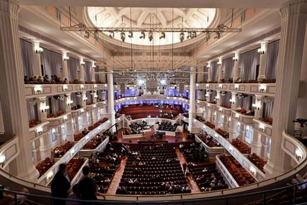 Interior of the Palladium concert hall. Photo by Zach Dobson.