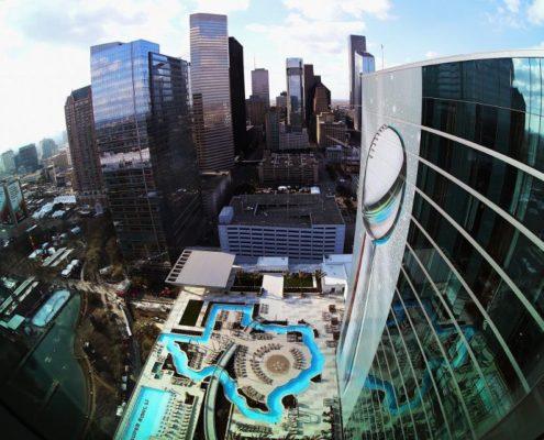 Texas Shaped Pool at the Houston Marriott